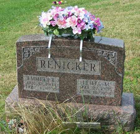 RENICKER, EMMETT L. - Tuscarawas County, Ohio | EMMETT L. RENICKER - Ohio Gravestone Photos
