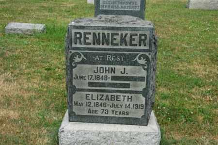 RENNEKER, ELIZABETH - Tuscarawas County, Ohio | ELIZABETH RENNEKER - Ohio Gravestone Photos