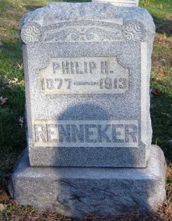 RENNEKER, PHILIP H. - Tuscarawas County, Ohio | PHILIP H. RENNEKER - Ohio Gravestone Photos