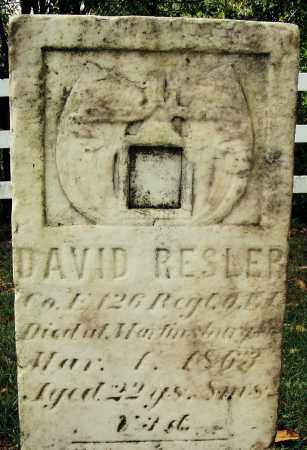 RESLER, DAVID - Tuscarawas County, Ohio | DAVID RESLER - Ohio Gravestone Photos