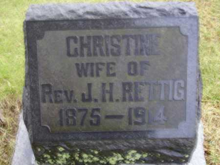 NIEHOFF RETTIG, CHRISTINE - Tuscarawas County, Ohio | CHRISTINE NIEHOFF RETTIG - Ohio Gravestone Photos