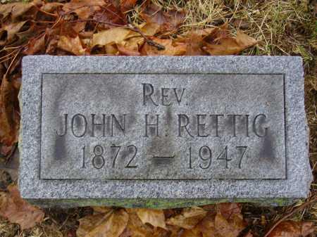 RETTIG, JOHN H. - Tuscarawas County, Ohio | JOHN H. RETTIG - Ohio Gravestone Photos