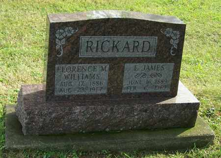 WILLIAMS RICKARD, FLORENCE M. - Tuscarawas County, Ohio | FLORENCE M. WILLIAMS RICKARD - Ohio Gravestone Photos