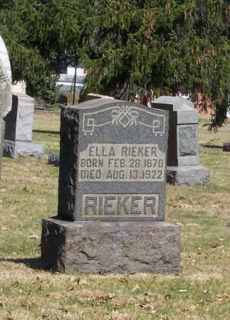 RIEKER, ELLA - Tuscarawas County, Ohio | ELLA RIEKER - Ohio Gravestone Photos