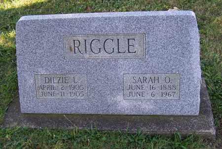 RIGGLE, SARAH O. - Tuscarawas County, Ohio | SARAH O. RIGGLE - Ohio Gravestone Photos