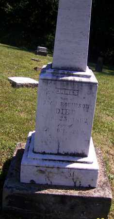 ROBINSON, JAMES - Tuscarawas County, Ohio | JAMES ROBINSON - Ohio Gravestone Photos