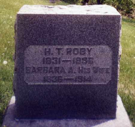 ROBY, H.T. - Tuscarawas County, Ohio | H.T. ROBY - Ohio Gravestone Photos