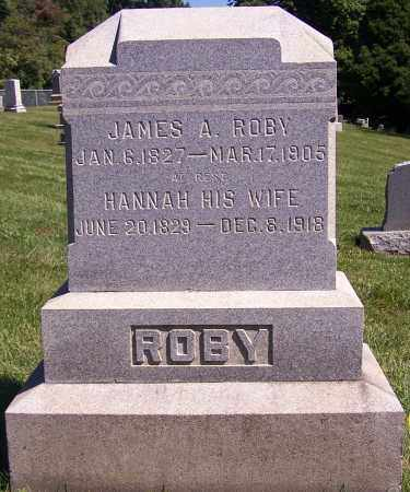 ROBY, JAMES A. - Tuscarawas County, Ohio | JAMES A. ROBY - Ohio Gravestone Photos