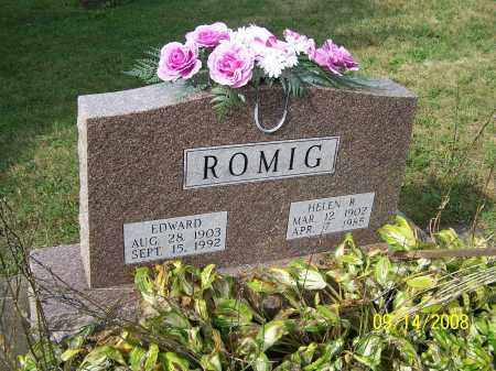 ROMIG, EDWARD - Tuscarawas County, Ohio | EDWARD ROMIG - Ohio Gravestone Photos