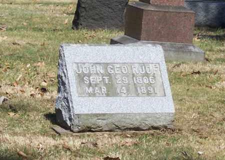 RUOF, JOHN GEO. - Tuscarawas County, Ohio | JOHN GEO. RUOF - Ohio Gravestone Photos