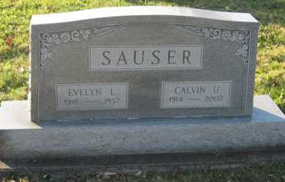 SAUSER, EVELYN L - Tuscarawas County, Ohio | EVELYN L SAUSER - Ohio Gravestone Photos