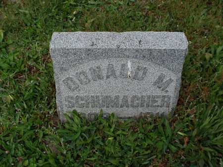 SCHUMACHER, DONALD M. - Tuscarawas County, Ohio | DONALD M. SCHUMACHER - Ohio Gravestone Photos