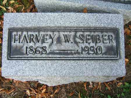 SEIBER, HARVEY W - Tuscarawas County, Ohio | HARVEY W SEIBER - Ohio Gravestone Photos