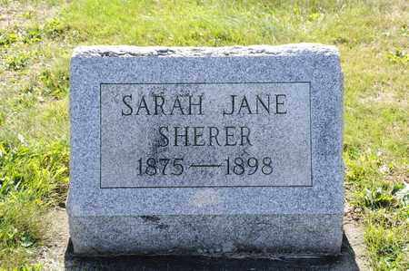 SHERER, SARAH JANE - Tuscarawas County, Ohio | SARAH JANE SHERER - Ohio Gravestone Photos