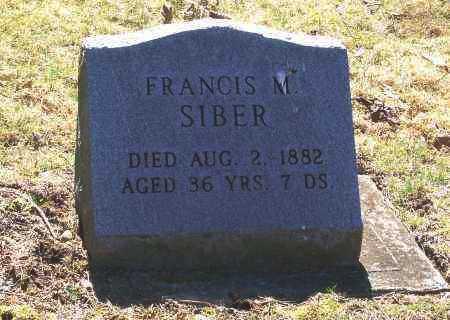 SIBER, FRANCIS M. - Tuscarawas County, Ohio | FRANCIS M. SIBER - Ohio Gravestone Photos