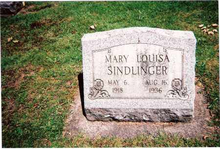 SINDLINGER, MARY LOUISA - Tuscarawas County, Ohio | MARY LOUISA SINDLINGER - Ohio Gravestone Photos