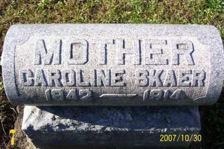 SKAER, CAROLINE CATHERINE - Tuscarawas County, Ohio | CAROLINE CATHERINE SKAER - Ohio Gravestone Photos