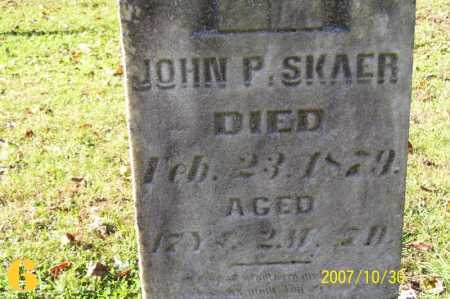 SKAER, JOHN PETER - Tuscarawas County, Ohio | JOHN PETER SKAER - Ohio Gravestone Photos