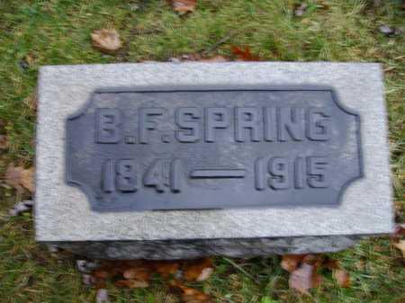 SPRING, BENJAMIN F. - Tuscarawas County, Ohio | BENJAMIN F. SPRING - Ohio Gravestone Photos