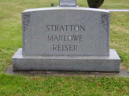 REISER STRATTON MARLOWE, FAMILY MONUMENT - Tuscarawas County, Ohio | FAMILY MONUMENT REISER STRATTON MARLOWE - Ohio Gravestone Photos