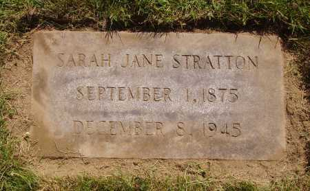 REESE STRATTON, SARAH JANE - Tuscarawas County, Ohio | SARAH JANE REESE STRATTON - Ohio Gravestone Photos
