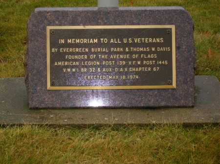 VETERANS MEMORIAM, PLAQUE CLOSEVIEW #1 - Tuscarawas County, Ohio | PLAQUE CLOSEVIEW #1 VETERANS MEMORIAM - Ohio Gravestone Photos