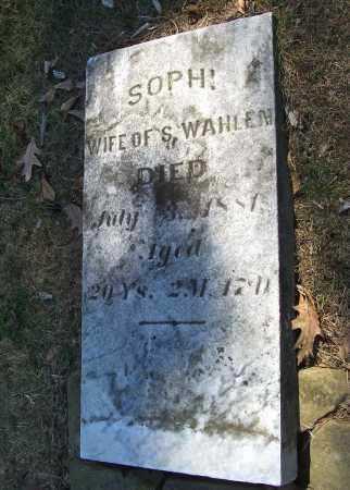 WAHLEN, SOPHI - Tuscarawas County, Ohio | SOPHI WAHLEN - Ohio Gravestone Photos