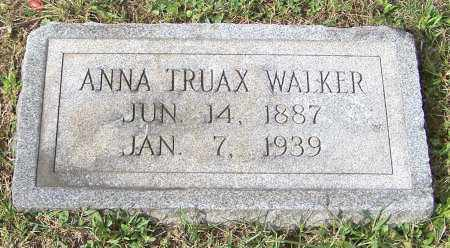 WALKER, ANNA TRUAX - Tuscarawas County, Ohio | ANNA TRUAX WALKER - Ohio Gravestone Photos