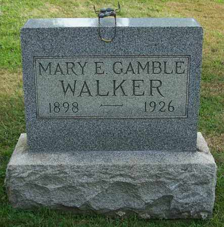 WALKER, MARY E. GAMBLE - Tuscarawas County, Ohio | MARY E. GAMBLE WALKER - Ohio Gravestone Photos