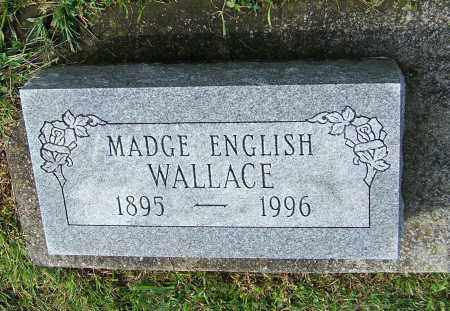WALLACE, MADGE ENGLISH - Tuscarawas County, Ohio | MADGE ENGLISH WALLACE - Ohio Gravestone Photos