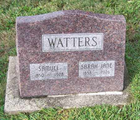 WATTERS, SARAH JANE - Tuscarawas County, Ohio | SARAH JANE WATTERS - Ohio Gravestone Photos