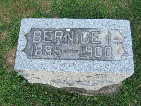 WENGER, BERNICE L. - Tuscarawas County, Ohio | BERNICE L. WENGER - Ohio Gravestone Photos