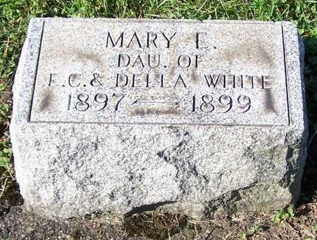 WHITE, MARY E. - Tuscarawas County, Ohio | MARY E. WHITE - Ohio Gravestone Photos