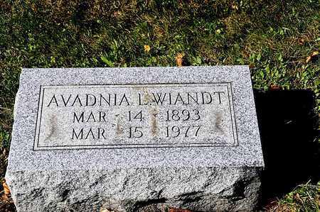 WIANDT, AVADNIA L. - Tuscarawas County, Ohio | AVADNIA L. WIANDT - Ohio Gravestone Photos