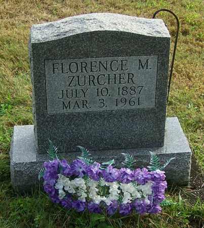 ZURCHER, FLORENCE M. - Tuscarawas County, Ohio | FLORENCE M. ZURCHER - Ohio Gravestone Photos
