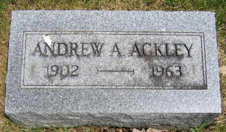 ACKLEY, ANDREW A. - Union County, Ohio | ANDREW A. ACKLEY - Ohio Gravestone Photos