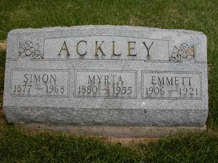 ACKLEY, MYRTA - Union County, Ohio | MYRTA ACKLEY - Ohio Gravestone Photos
