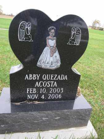ACOSTA, ABBY QUEZADA - Union County, Ohio | ABBY QUEZADA ACOSTA - Ohio Gravestone Photos