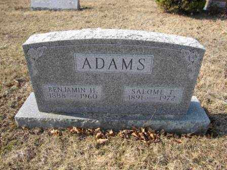 ADAMS, SALOME T. - Union County, Ohio | SALOME T. ADAMS - Ohio Gravestone Photos
