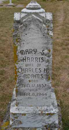 ADAMS, MARY S. HARRIS - Union County, Ohio | MARY S. HARRIS ADAMS - Ohio Gravestone Photos