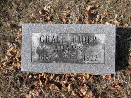 ADAMS, GRACE RIDER - Union County, Ohio | GRACE RIDER ADAMS - Ohio Gravestone Photos