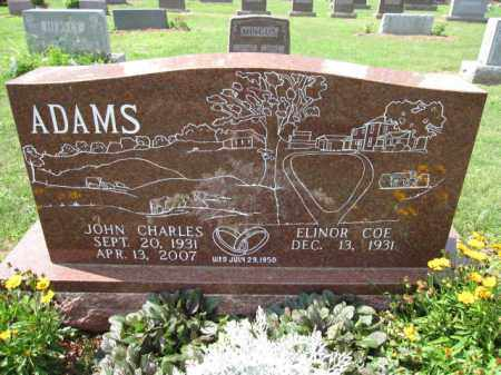 ADAMS, JOHN CHARLES - Union County, Ohio | JOHN CHARLES ADAMS - Ohio Gravestone Photos