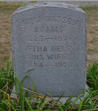 ADAMS, JOHN WATSON - Union County, Ohio | JOHN WATSON ADAMS - Ohio Gravestone Photos