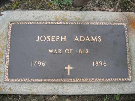 ADAMS, JOSEPH - Union County, Ohio | JOSEPH ADAMS - Ohio Gravestone Photos