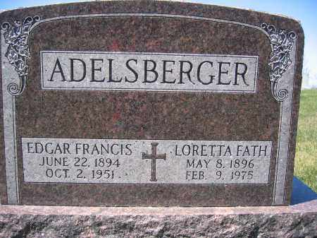 ADELSBERGER, EDGAR FRANCIS - Union County, Ohio | EDGAR FRANCIS ADELSBERGER - Ohio Gravestone Photos