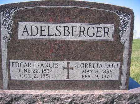 ADELSBERGER, LORETTA FATH - Union County, Ohio | LORETTA FATH ADELSBERGER - Ohio Gravestone Photos