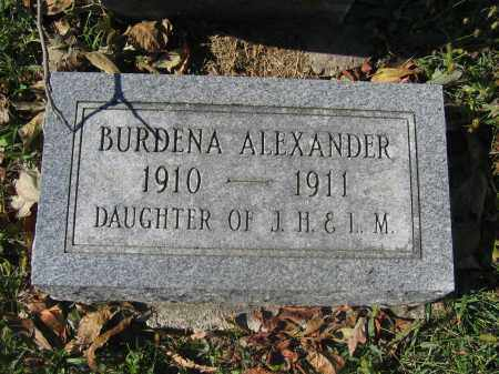 ALEXANDER, BURDENA - Union County, Ohio | BURDENA ALEXANDER - Ohio Gravestone Photos