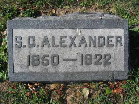 ALEXANDER, S.C. - Union County, Ohio | S.C. ALEXANDER - Ohio Gravestone Photos