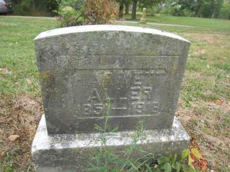 ALLER, HARRIETT - Union County, Ohio | HARRIETT ALLER - Ohio Gravestone Photos
