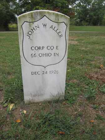 ALLER, JOHN W. - Union County, Ohio | JOHN W. ALLER - Ohio Gravestone Photos